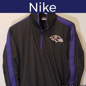 🏈Nike Pullover Windbreaker Jacket-1/4 Zip-Ravens